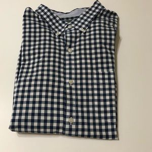 Bonobos Gingham Navy & White Long sleeved Shirt 2X